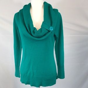 New York & Company Sweaters - New York & Company- Teal cowl sweater, size M